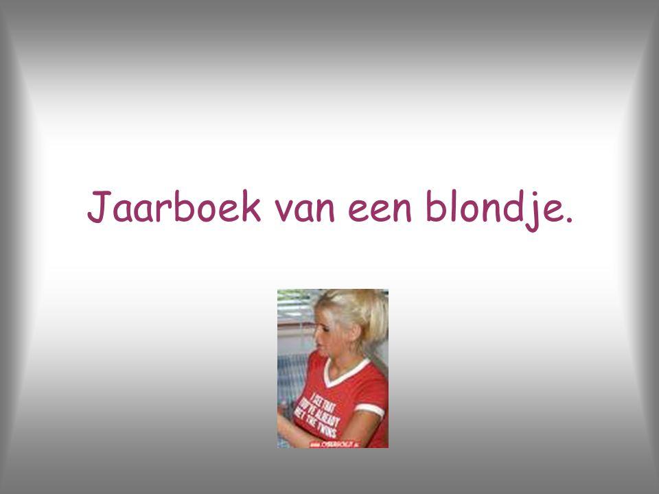 Jaarboek van een blondje.