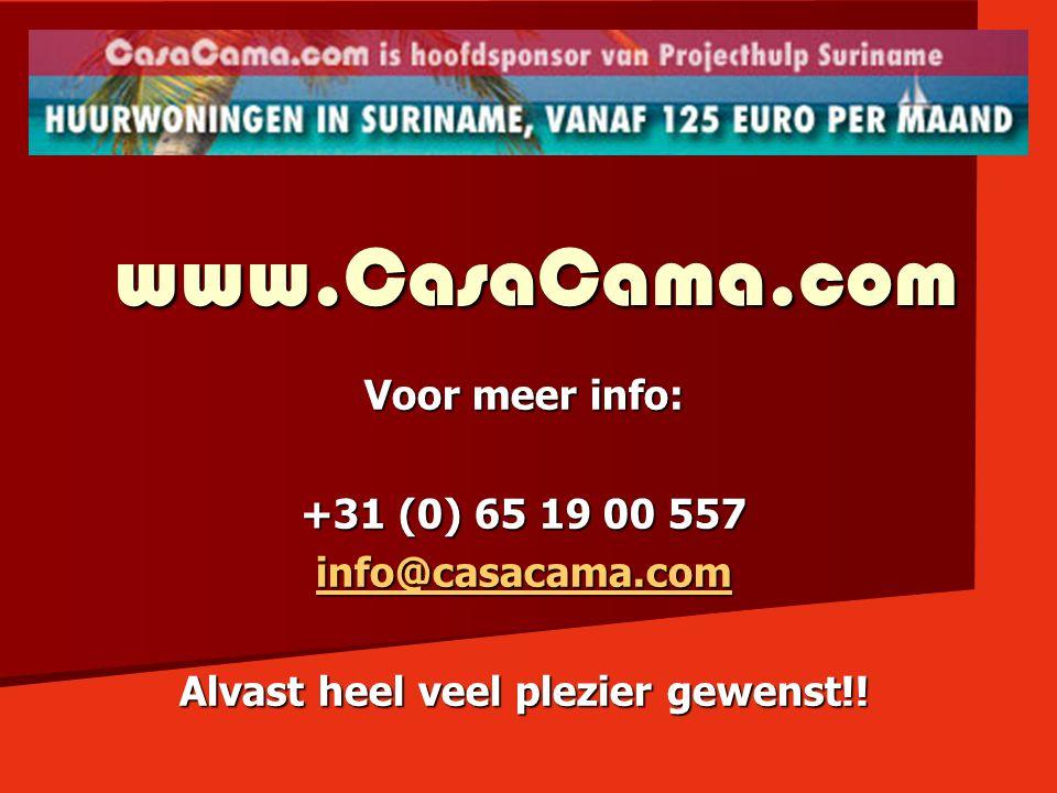 www.CasaCama.com Voor meer info: +31 (0) 65 19 00 557 info@casacama.com Alvast heel veel plezier gewenst!!
