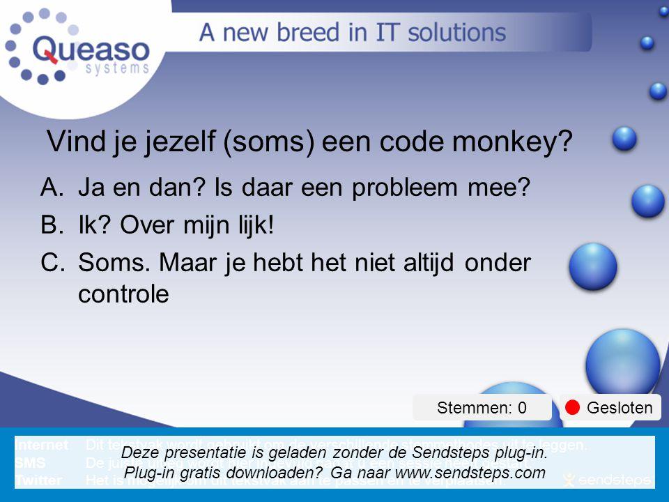 How to avoid being a code monkey . Vind je jezelf (soms) een code monkey.
