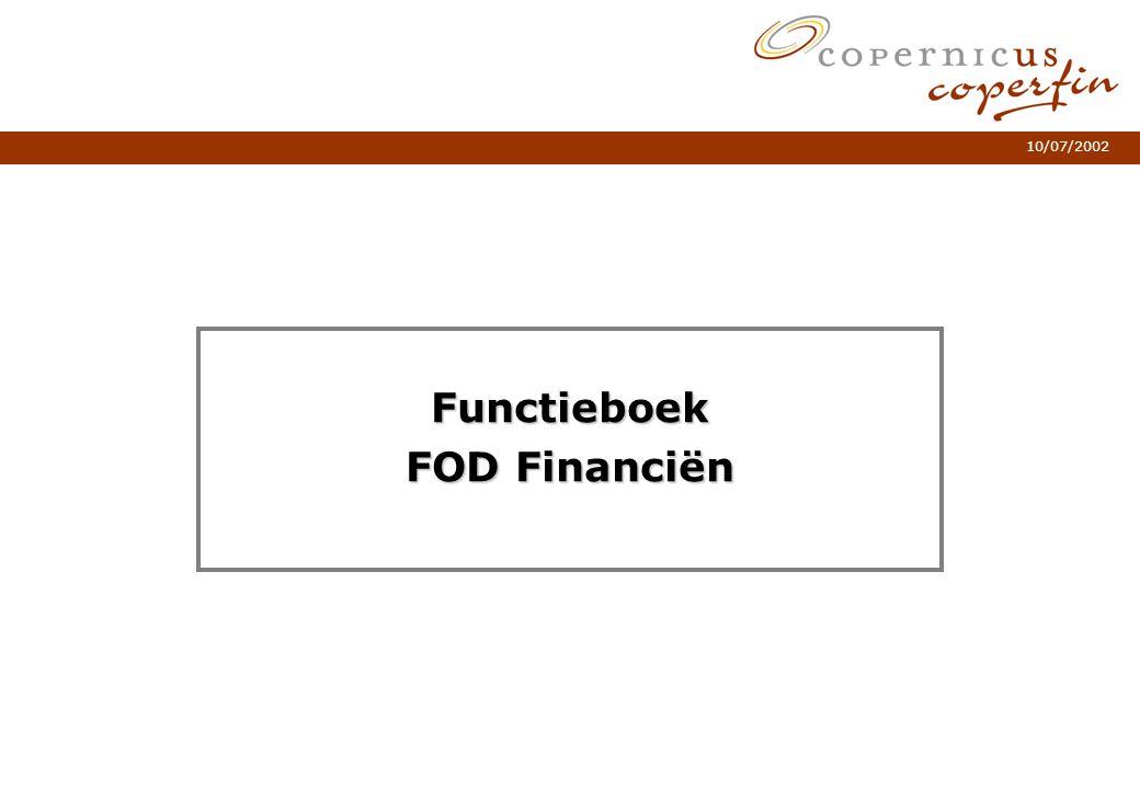 10/07/2002 Functieboek FOD Financiën