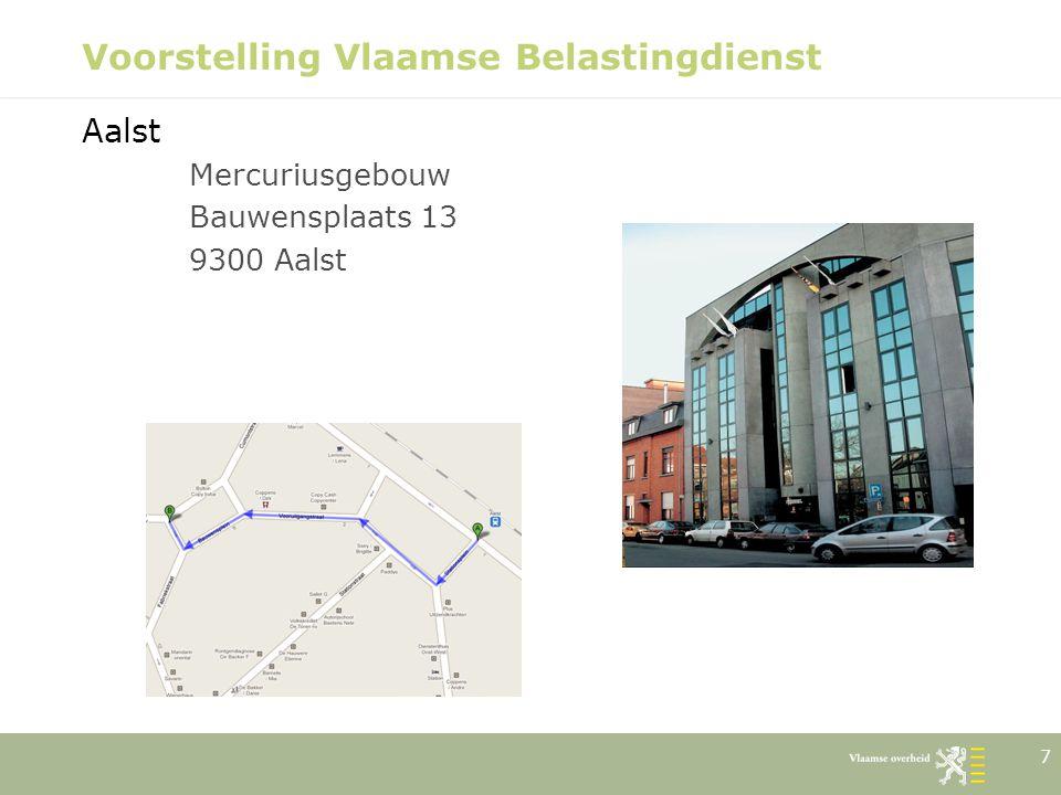 18 Voorstelling Vlaamse Belastingdienst Onze visie over verkeersbelastingen in de nabije toekomst: Vereenvoudiging wetgeving  reeds van toepassing vanaf 1/01/2011 Onmiddellijke inkohiering; geen uitnodiging tot betaling meer (uitz.