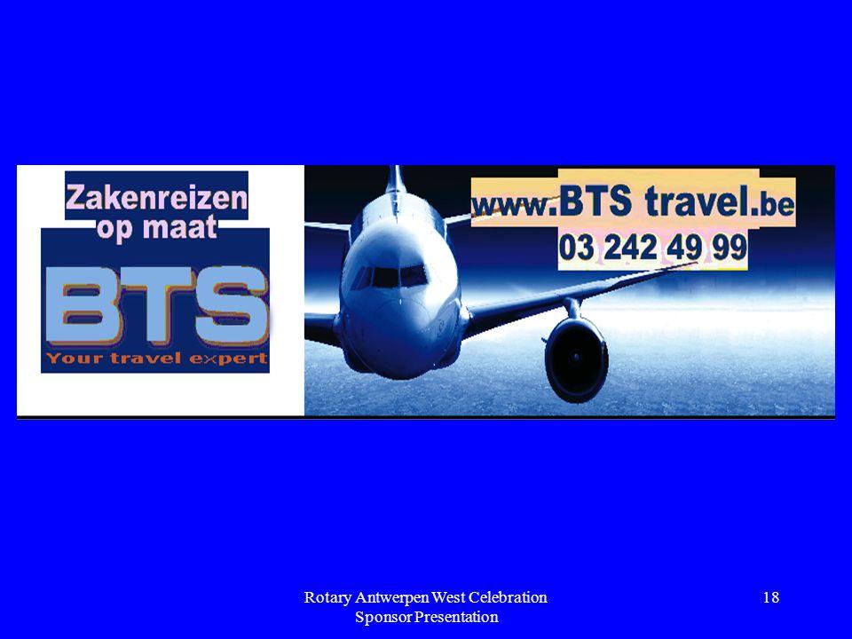 Rotary Antwerpen West Celebration Sponsor Presentation 18