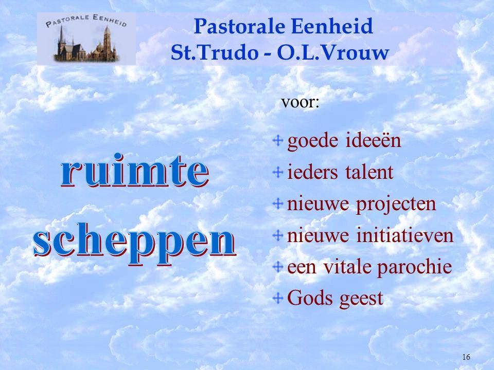 Pastorale Eenheid St.Trudo - O.L.Vrouw Deken J.