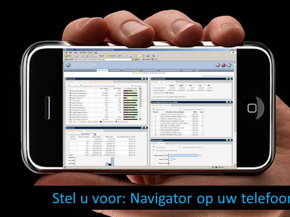 Stel u voor: Navigator op uw telefoon!