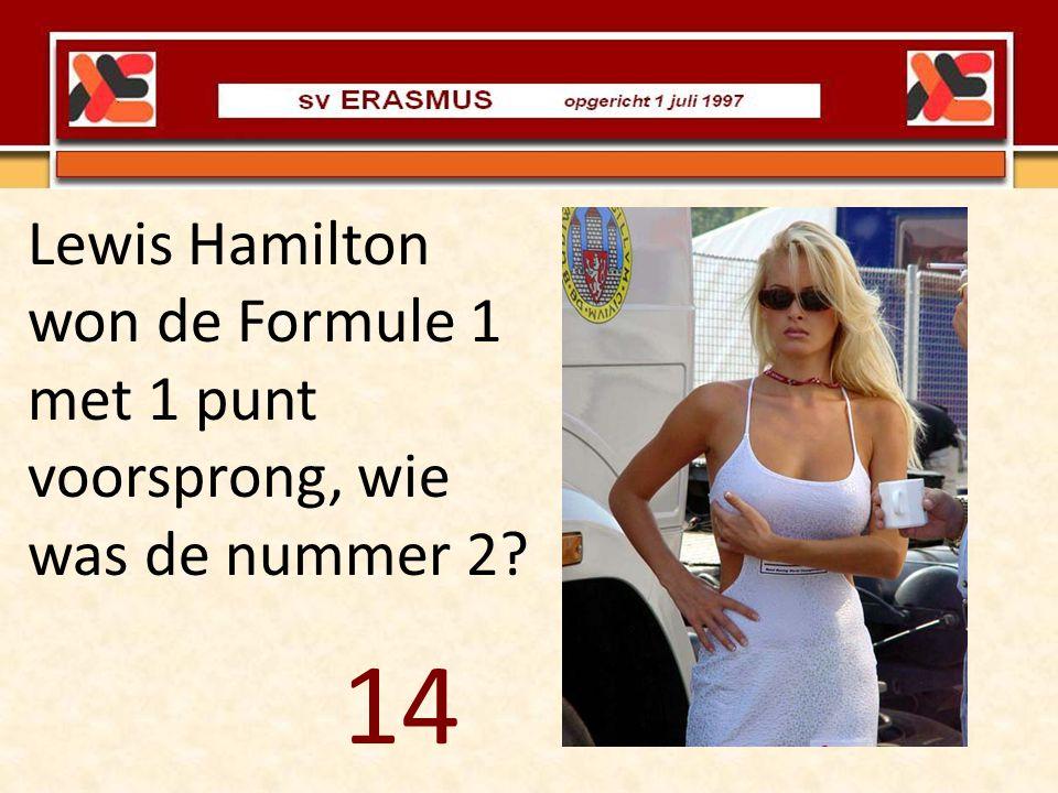 Lewis Hamilton won de Formule 1 met 1 punt voorsprong, wie was de nummer 2? 14