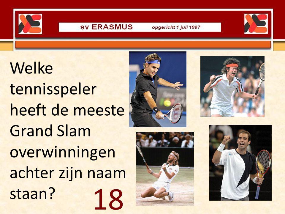 Welke tennisspeler heeft de meeste Grand Slam overwinningen achter zijn naam staan? 18