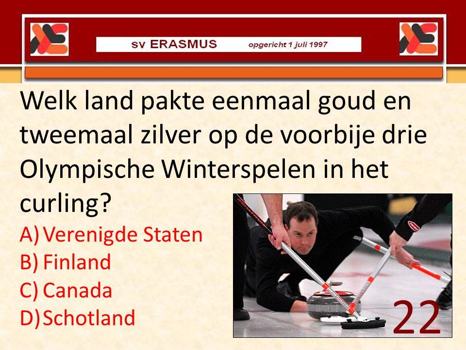 Welk land pakte eenmaal goud en tweemaal zilver op de voorbije drie Olympische Winterspelen in het curling? A)Verenigde Staten B)Finland C)Canada D)Sc