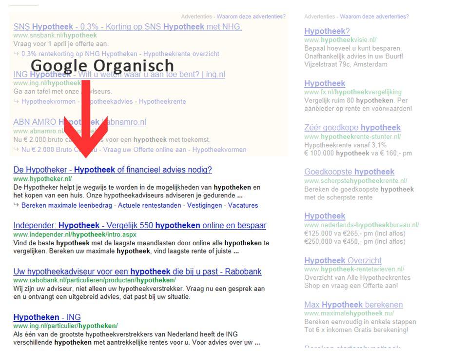 ZOEKMACHINE OPTIMALISATIE Zoekwoord Onderzoek -Google Suggest -Adwords tool -Concurrentie analyse