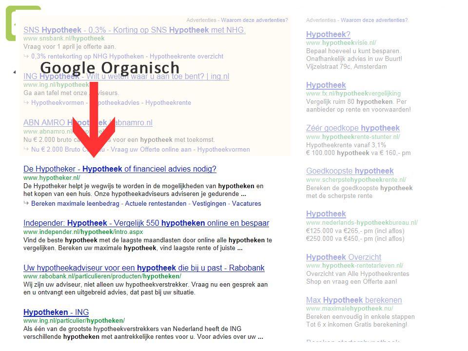 ORGANISCH RANKEN – in 1 uur per week Goede Techniek + Juiste Content + Linkprofiel = Goede Organische Ranking