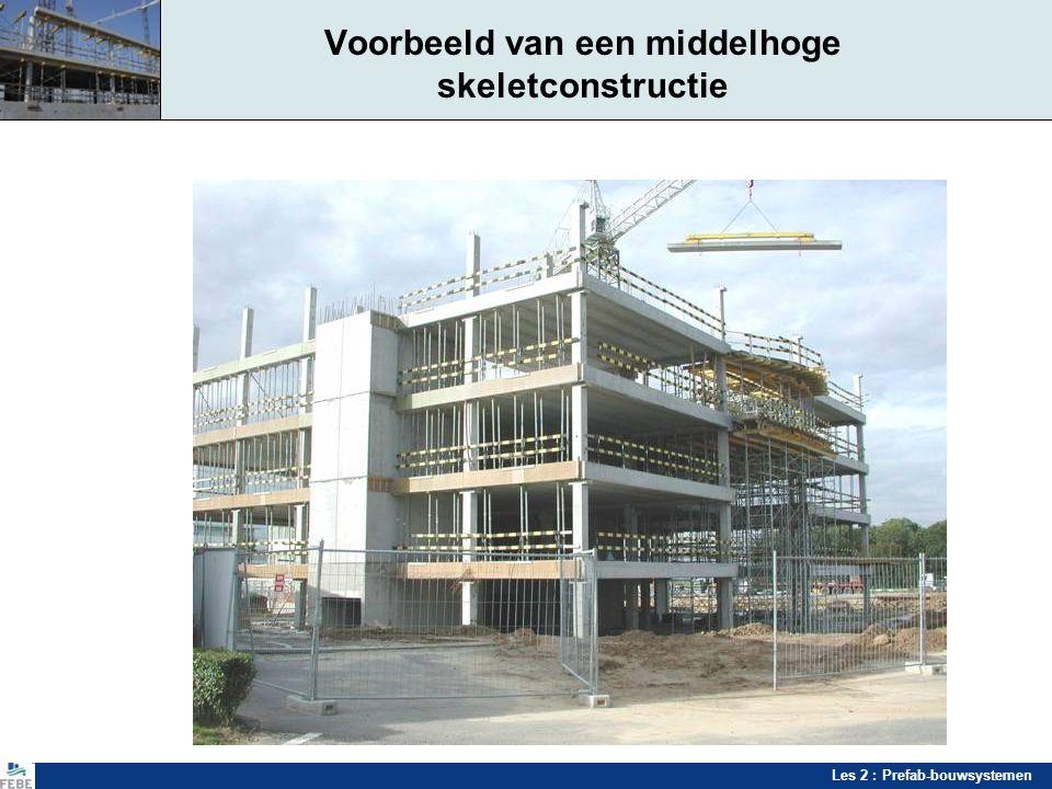 Les 2 : Prefab-bouwsystemen Toepassingen prefabsystemen Parkeergarages - Prefabsystemen Vlakke parkeervloeren met afzonderlijke in- en uitrit