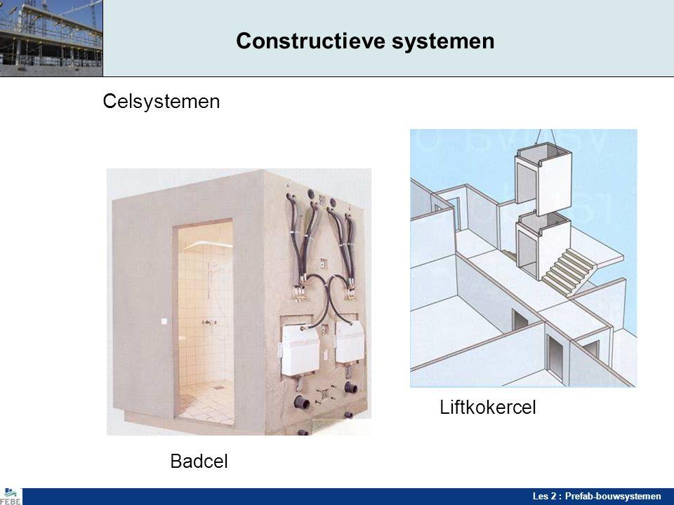 Les 2 : Prefab-bouwsystemen Constructieve systemen Celsystemen Liftkokercel Badcel