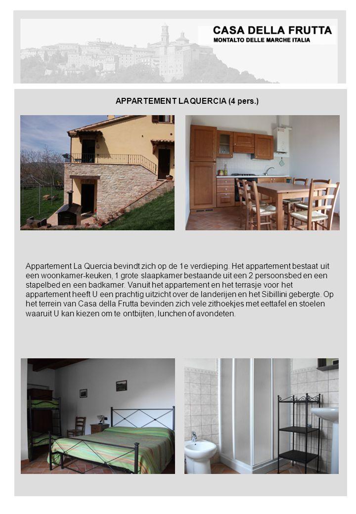 Appartement La Quercia bevindt zich op de 1e verdieping.