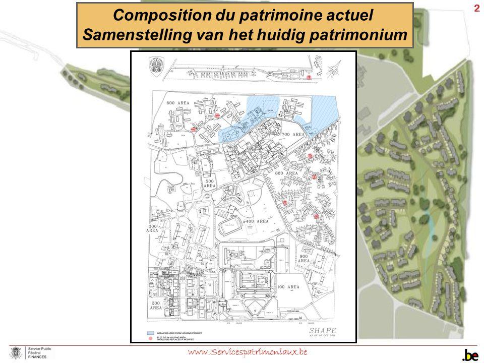2 www.Servicespatrimoniaux.be Composition du patrimoine actuel Samenstelling van het huidig patrimonium
