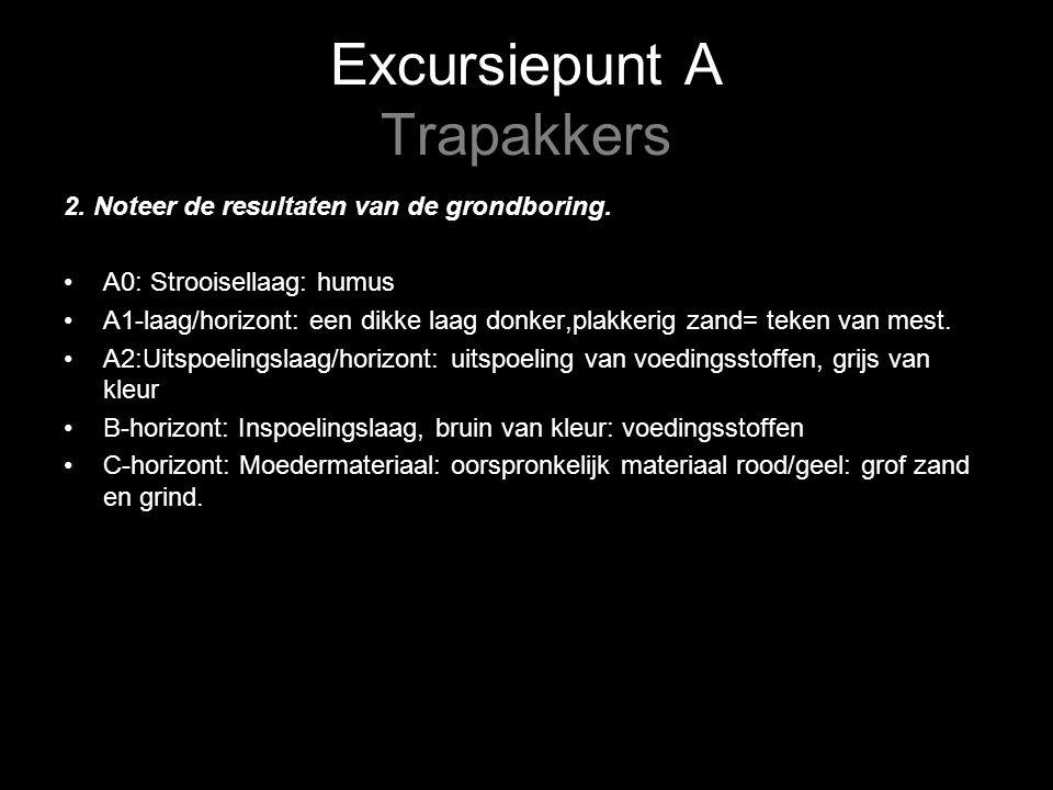 Excursiepunt A Trapakkers 2. Noteer de resultaten van de grondboring.