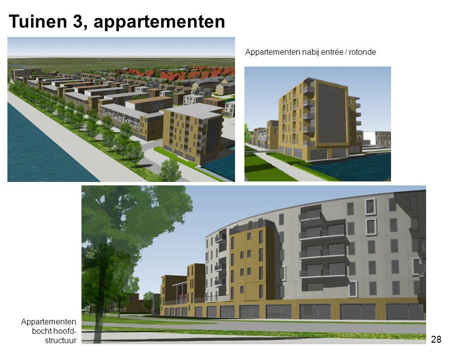 28 Tuinen 3, appartementen Appartementen bocht hoofd- structuur Appartementen nabij entrée / rotonde