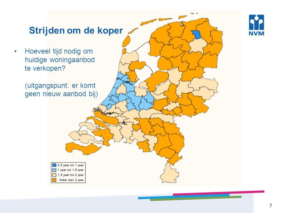 Transactieprijzen 8 Als één van de weinige provincies gemiddelde transactieprijs toegenomen t.o.v.