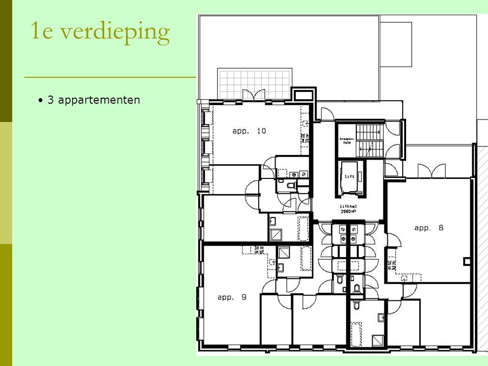 1e verdieping 3 appartementen