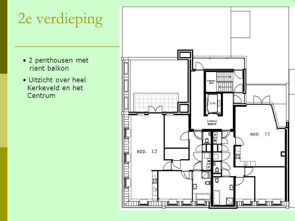 2e verdieping 2 penthousen met riant balkon Uitzicht over heel Kerkeveld en het Centrum