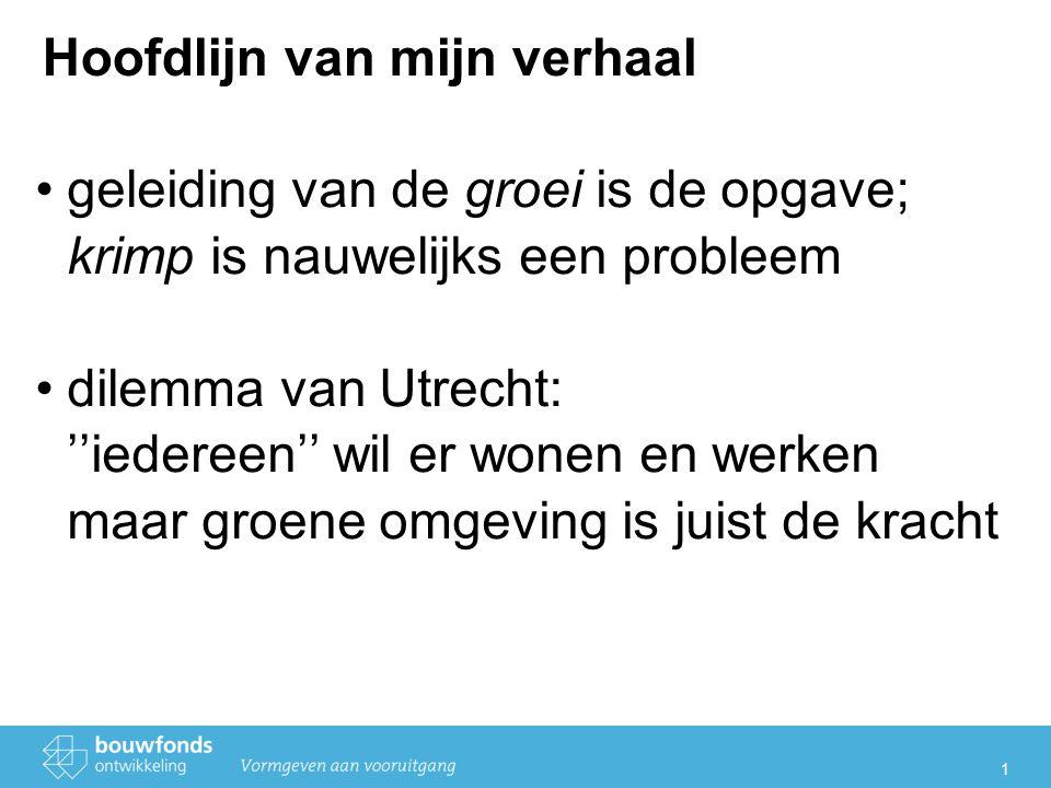 2 Demografie Bevolking (2005-2020) Volgens de prognose zal de bevolking van de gemeente Utrecht het hardst blijven groeien.
