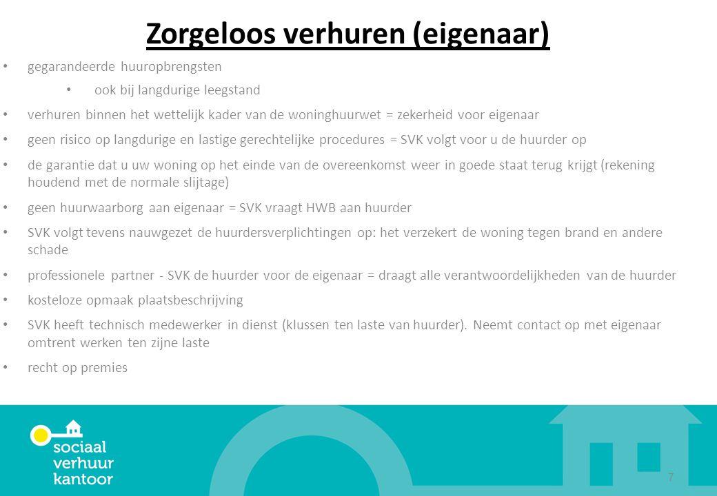 Zorgeloos verhuren (eigenaar) gegarandeerde huuropbrengsten ook bij langdurige leegstand verhuren binnen het wettelijk kader van de woninghuurwet = ze