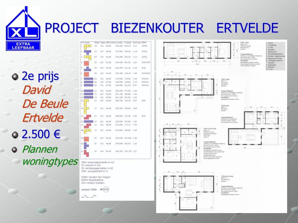 PROJECT BIEZENKOUTER ERTVELDE PROJECT BIEZENKOUTER ERTVELDE 2e prijs David De Beule Ertvelde 2.500 € Plannen woningtypes