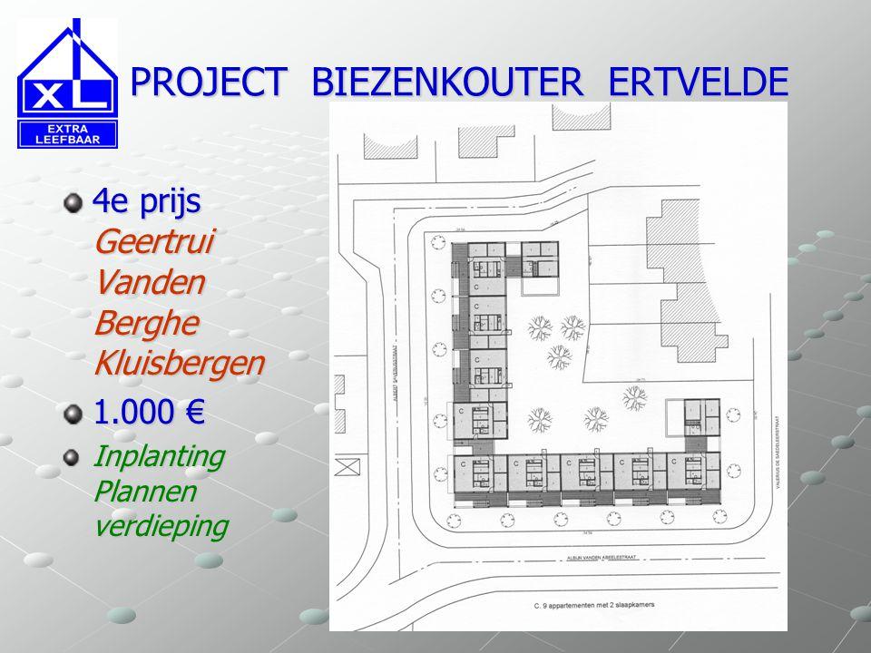 PROJECT BIEZENKOUTER ERTVELDE PROJECT BIEZENKOUTER ERTVELDE 2e prijs David De Beule Ertvelde 2.500 € Plannen woningtypes Aanzichten