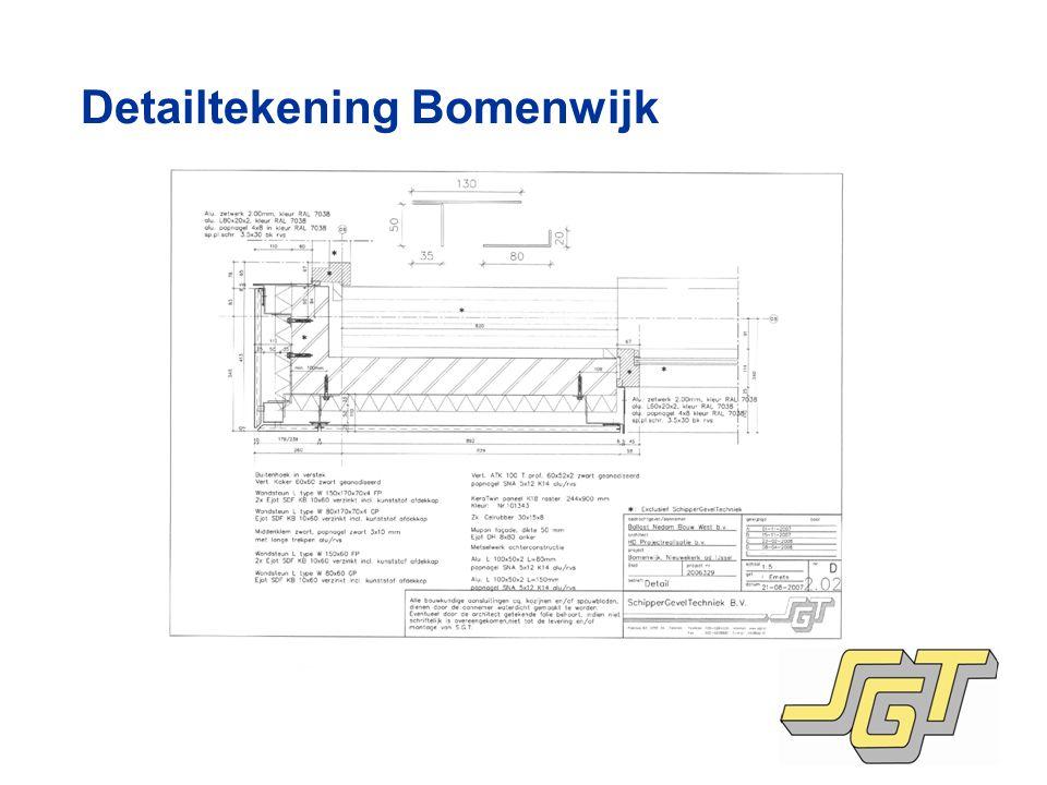 Detailtekening Bomenwijk
