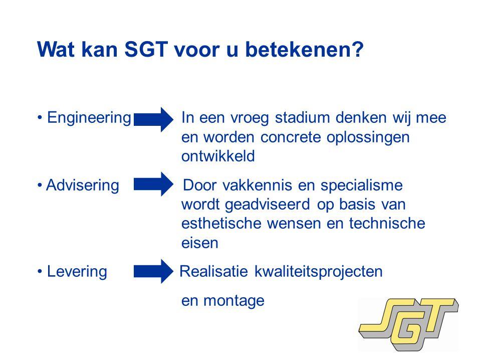 Wat kan SGT voor u betekenen.