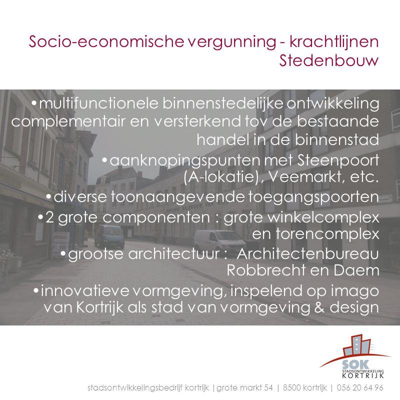 Socio-economische vergunning - krachtlijnen Stedenbouw multifunctionele binnenstedelijke ontwikkeling complementair en versterkend tov de bestaande ha