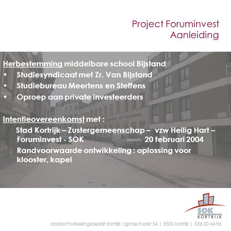 Project Foruminvest Aanleiding Herbestemming middelbare school Bijstand Studiesyndicaat met Zr. Van Bijstand Studiebureau Meertens en Steffens Oproep