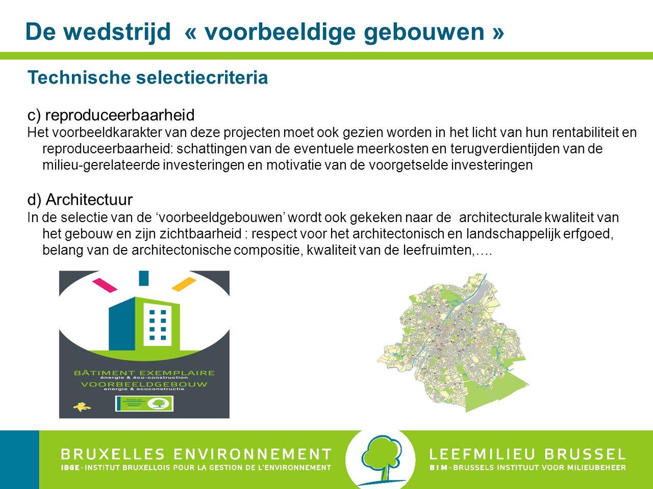 Een voorbeeld : Huisvesting – nieuwbouw Keuze van de techische installaties : berekeningshypothesen Hypotheses kostprijs en koolstofimpact over periode 20 jaar stijging energieprijs op jaarbasis (excl.