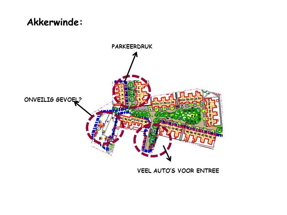 PARKEERDRUK Akkerwinde: VEEL AUTO'S VOOR ENTREE ONVEILIG GEVOEL?