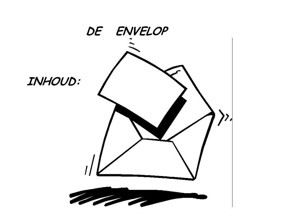 DE ENVELOP INHOUD: