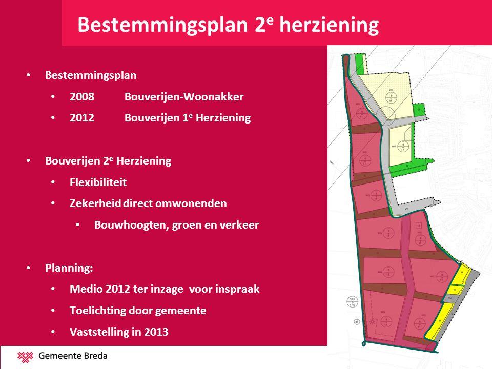 Bestemmingsplan 2 e herziening Bestemmingsplan 2008Bouverijen-Woonakker 2012Bouverijen 1 e Herziening Bouverijen 2 e Herziening Flexibiliteit Zekerhei