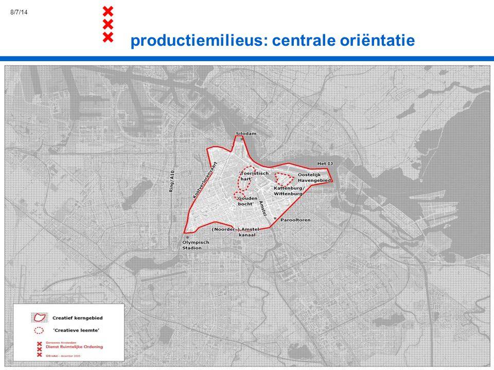 8/7/14 productiemilieus: centrale oriëntatie