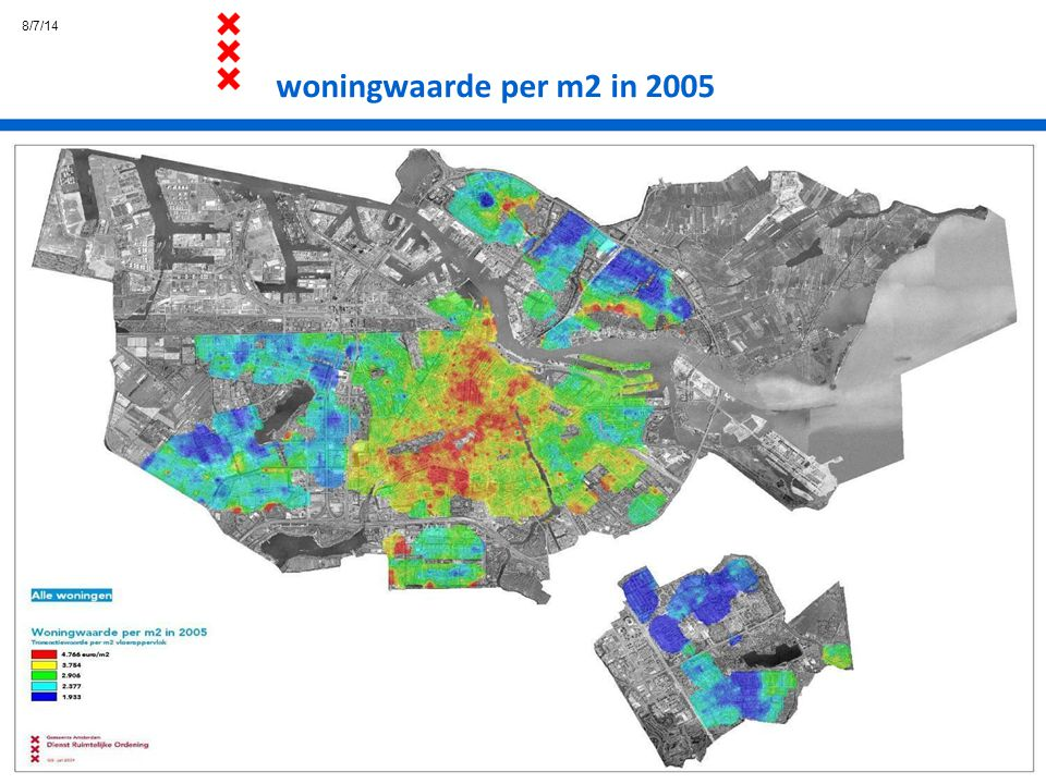 8/7/14 woningwaarde per m2 in 2005
