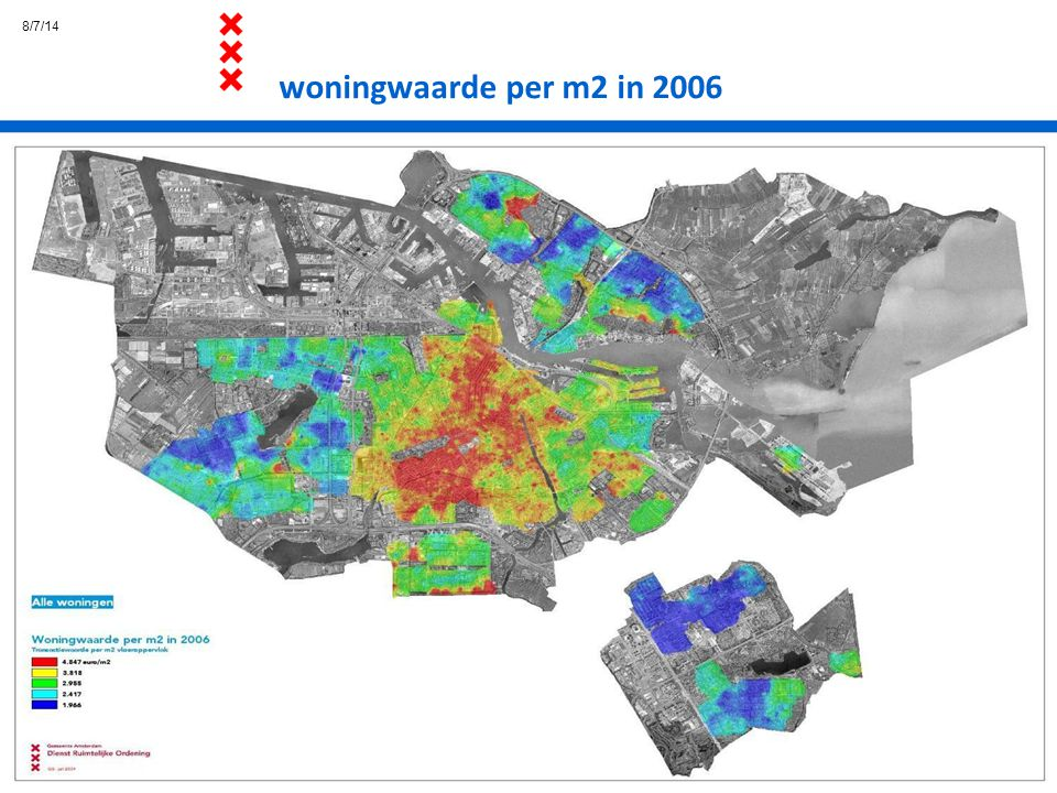 8/7/14 woningwaarde per m2 in 2006