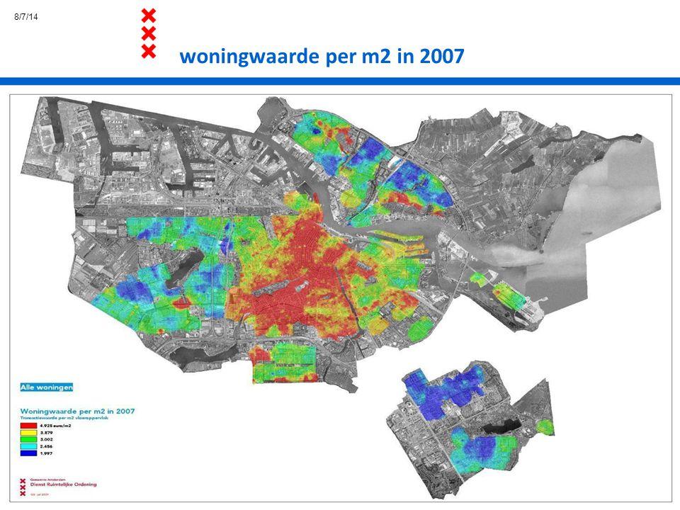 8/7/14 woningwaarde per m2 in 2007