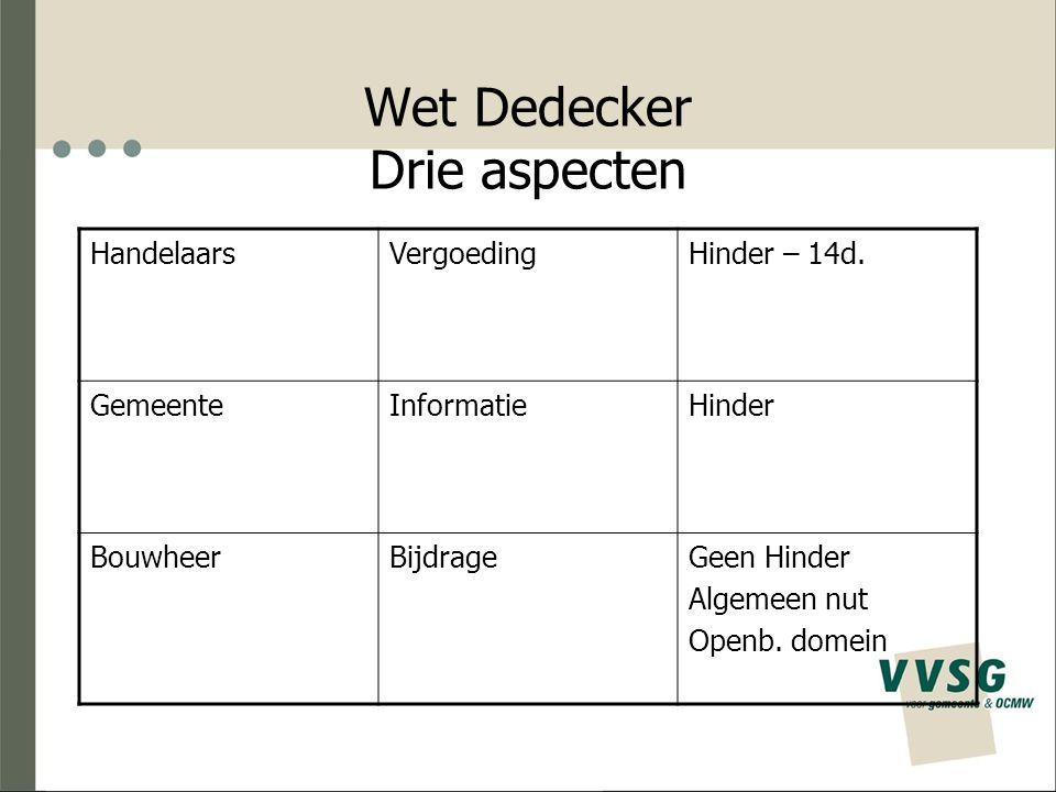 Wet Dedecker Drie aspecten HandelaarsVergoedingHinder – 14d.