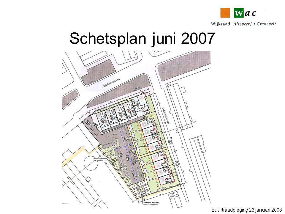 Schetsplan juni 2007 Buurtraadpleging 23 januari 2008