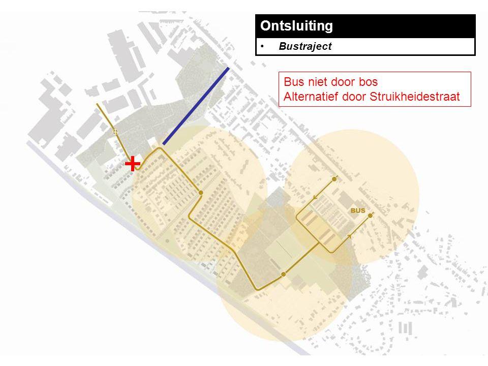 Ontsluiting Bustraject Bus niet door bos Alternatief door Struikheidestraat