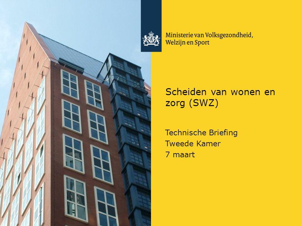 Scheiden van wonen en zorg (SWZ) Technische Briefing Tweede Kamer 7 maart