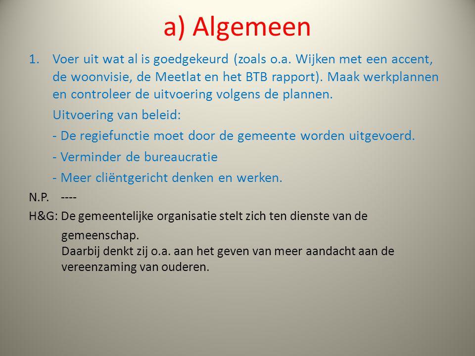 a) Algemeen 2.