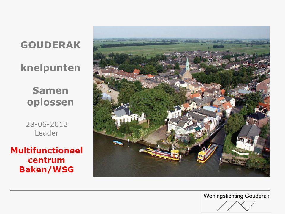 28-06-2012 Leader Multifunctioneel centrum Baken/WSG GOUDERAK knelpunten Samen oplossen