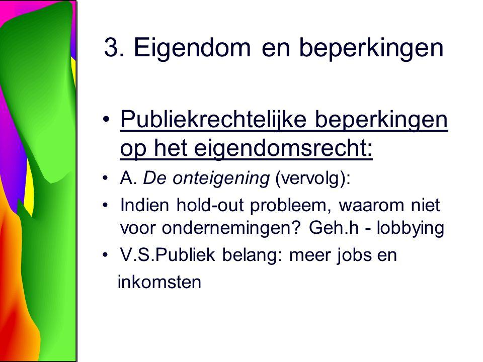 3.Eigendom en beperkingen Publiekrechtelijke beperkingen op het eigendomsrecht: A.