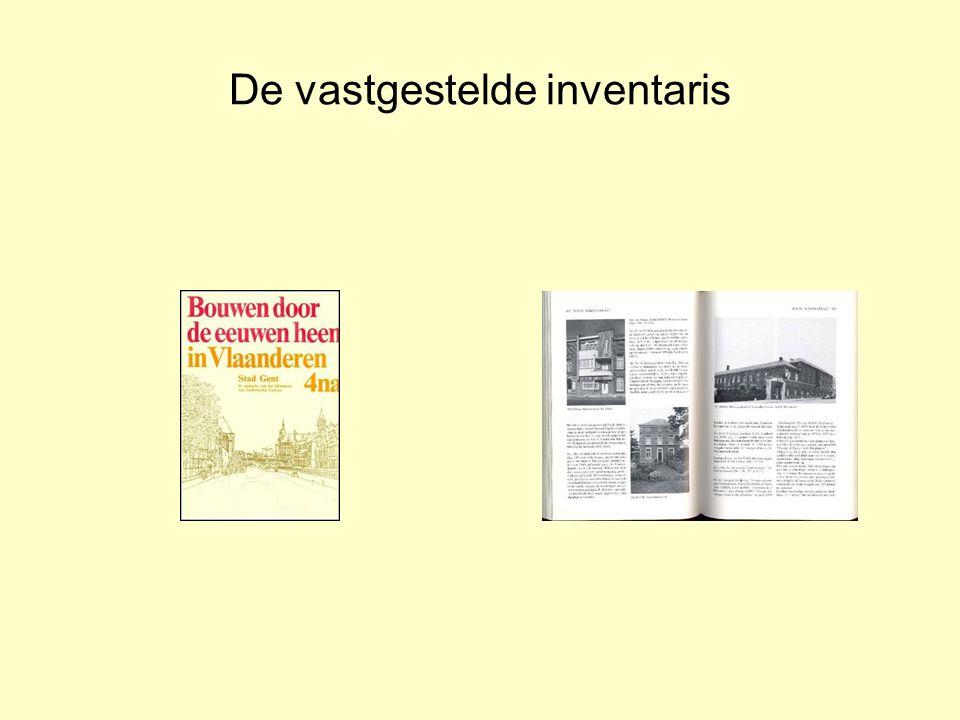 De vastgestelde inventaris