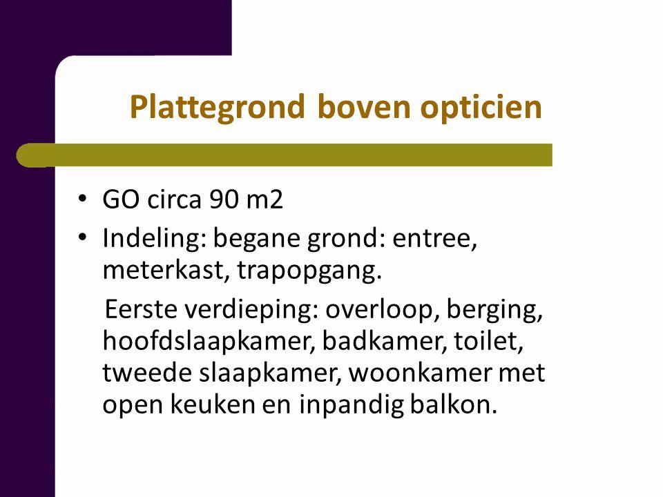 GO circa 90 m2 Indeling: begane grond: entree, meterkast, trapopgang.