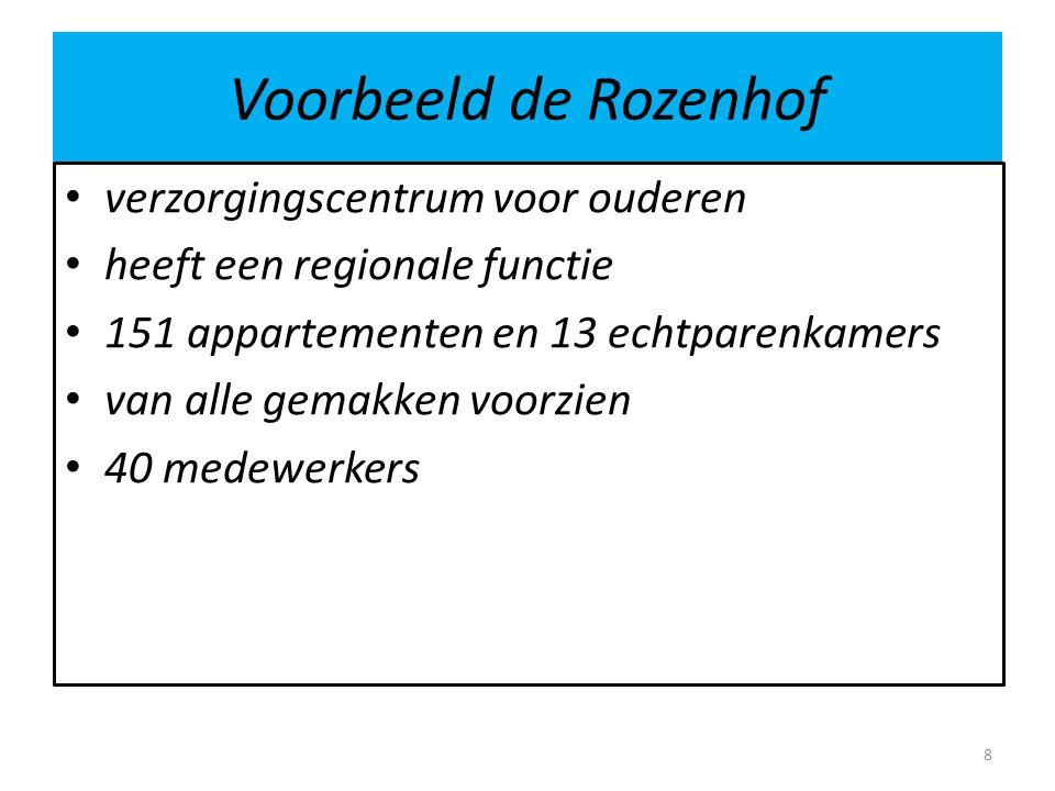 Voorbeeld de Rozenhof verzorgingscentrum voor ouderen heeft een regionale functie 151 appartementen en 13 echtparenkamers van alle gemakken voorzien 4