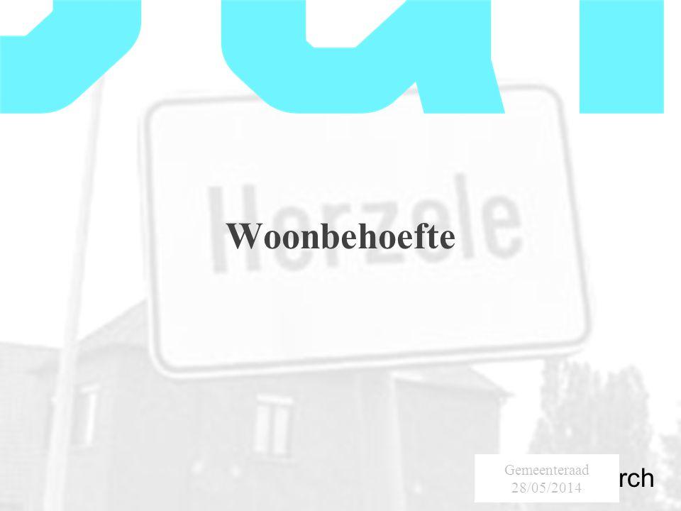 SumResearch Urban Consultancy Woonbehoefte Gemeenteraad 28/05/2014