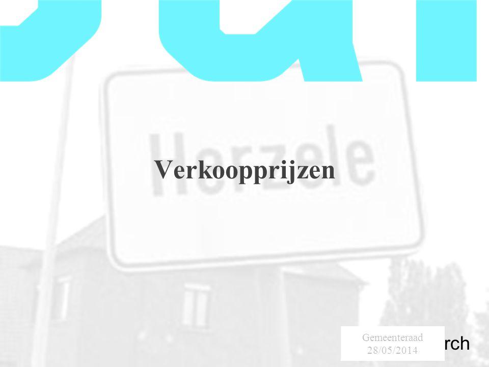SumResearch Urban Consultancy Verkoopprijzen Gemeenteraad 28/05/2014
